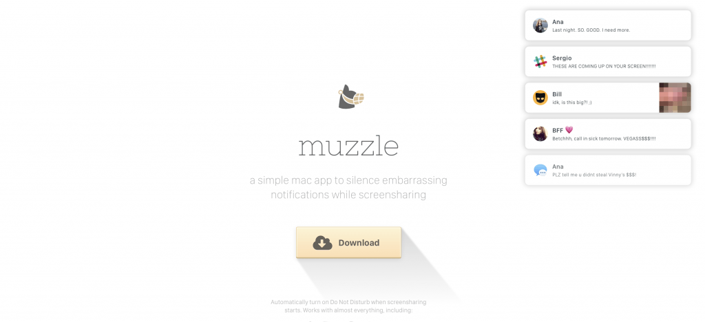 Muzzle Landing Page Example