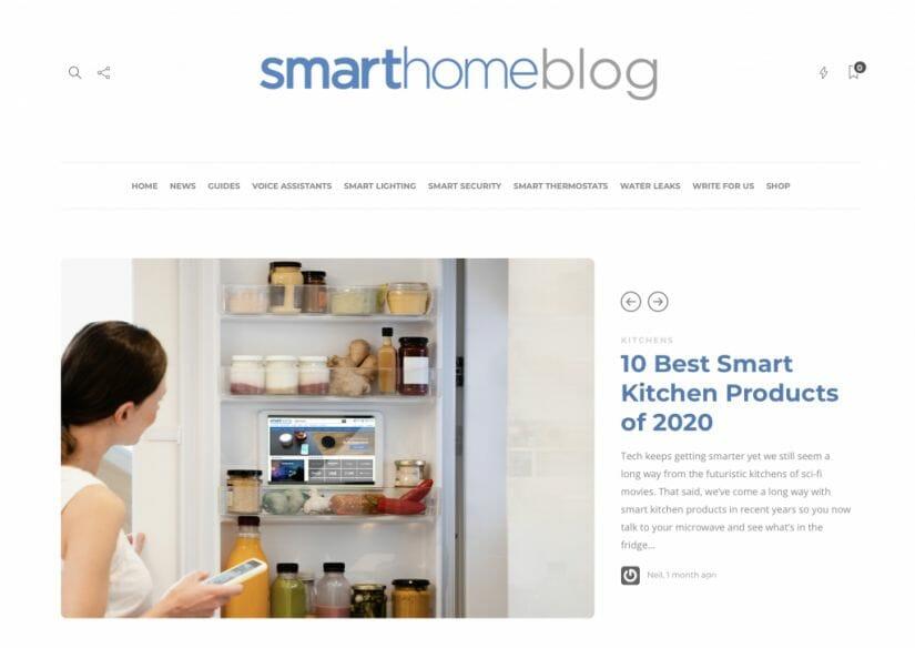 Smart Home Blog Screenshot