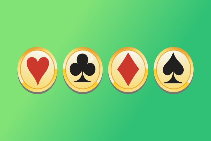Playing card logos