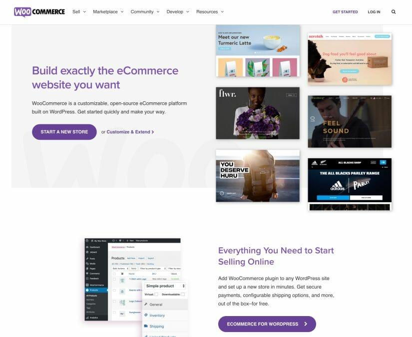 Screenshot of WooCommerce.com